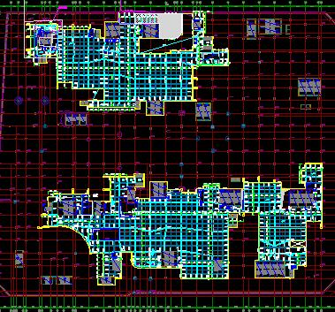 6层框剪结构购物商城结构施工图纸(中)