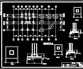 三层框架办公楼结构施工图纸