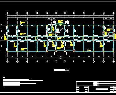 4层框架结构办公楼结构施工图纸