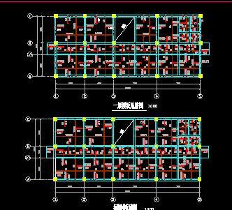 六层框架结构综合楼结构施工图纸