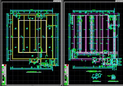 污水处理厂生化反应池及污泥泵房结构施工图纸