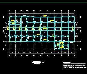 五层框架辅助教学楼结构施工图纸
