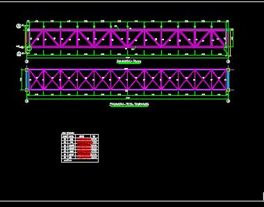 钢桁架结构图纸