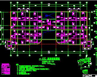 某四层框架结构办公楼结构施工图纸