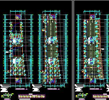 6层钢框架结构会展中心结构施工图纸