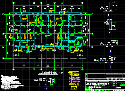框架综合楼结构施工图纸