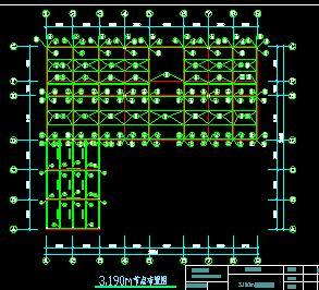 三层钢框架办公楼结构施工图纸