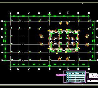 超高层框筒结构综合楼结构施工图纸(上)