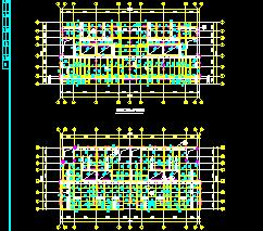 5幢钢框架结构别墅结构施工图纸