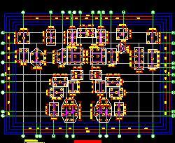 10幢高层框架住宅楼结构施工图纸(含计算)