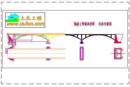 桥梁课程设计事例-小拱桥