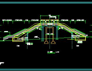 人行过街天桥改造工程结构施工图纸