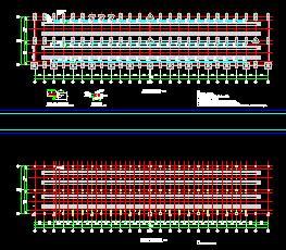 轨道交通车辆段检修平台结构招标图