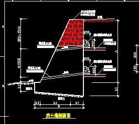 挡土墙、护坡及排水沟施工详图