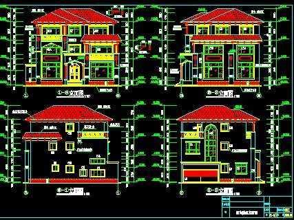 欧式别墅建筑,结构施工图