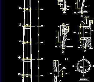 某60米高烟囱结构设计图图片