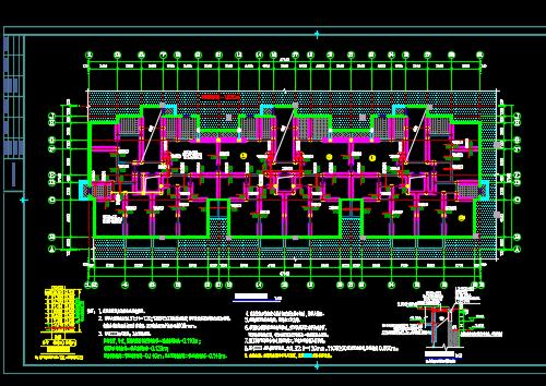 七层住宅楼结构施工图纸