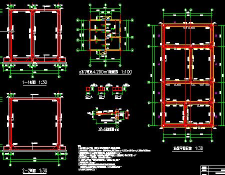 地上单层砌体结构污水池结构施工图