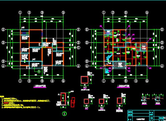 三层砖混结构别墅施工图纸