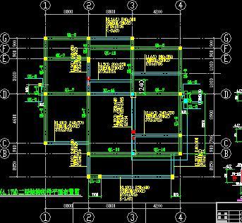 三层带阁楼砖混结构别墅结构施工图纸
