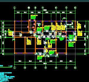 三层砖混结构别墅结构施工图纸