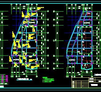 两层砖混结构综合楼结构施工图纸