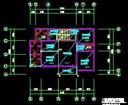 二层砖混结构别墅结构施工图纸(天然浅地基)