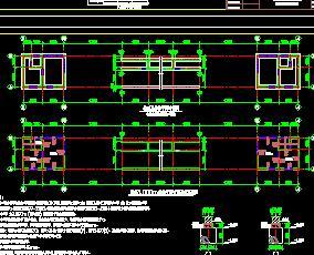 某厂区砌体结构门卫房结构施工图纸