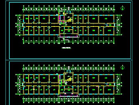 某四层业务楼加固改造施工图纸