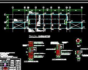 三层框架教学楼加固结构施工图纸