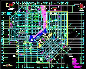 20层框剪结构酒店结构改造加固施工图纸