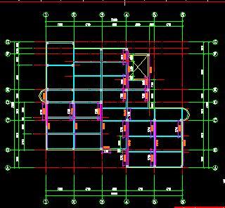 三层框架结构图书馆改造加固结构施工图纸