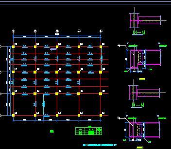 钢框架办公楼改造结构施工图纸