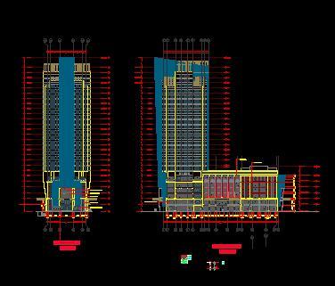 某综合楼梁板拆改建、钢雨棚施工图纸(含建筑结构)