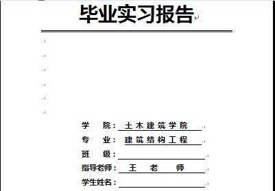 土木工程专业毕业实习报告 17p