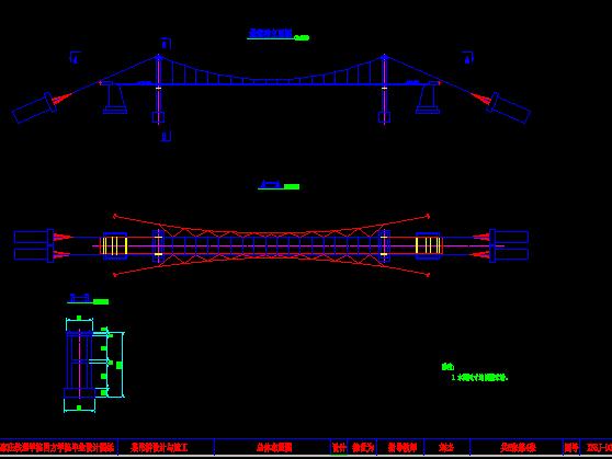 三跨柔性悬索桥毕业设计