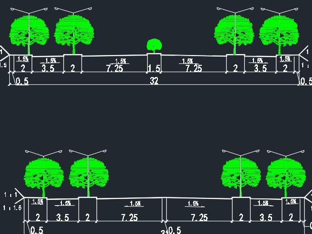 全长1711.76米城市道路毕业设计(含图纸)