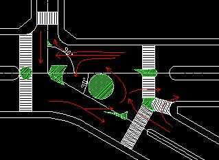 某平交口渠化设计图