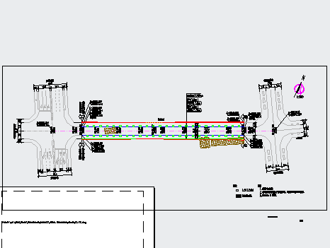 某道路市政工程设计图纸(含道路、交通、给排水、电气、燃气)