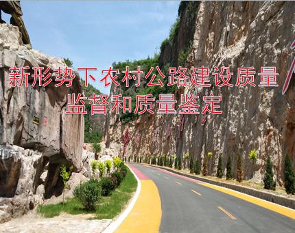 农村公路建设质量监督和质量鉴定教学课件