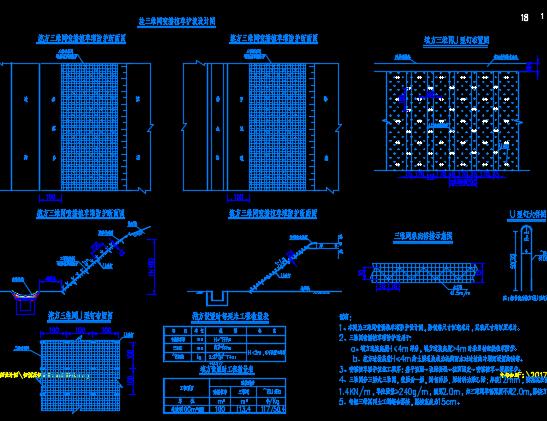 路基支挡防护工程设计图