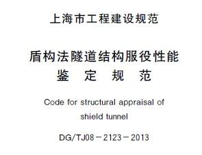 DG/TJ08-2123-2013 盾构法隧道结构服役性能鉴定规范