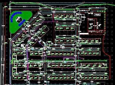 小区道路平面图