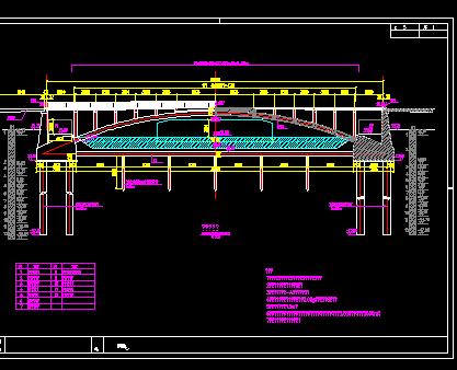 单跨上承式空腹拱桥建设施工图纸