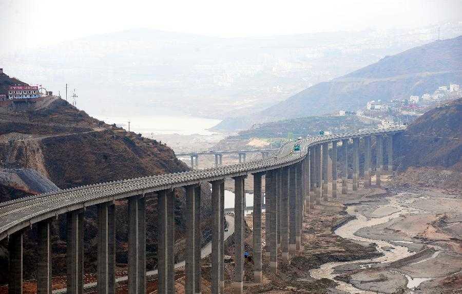 雅西高速公路流沙河大桥