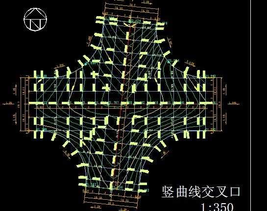 交叉口竖向设计图纸免费下载 - 公路图纸 - 土木工程网