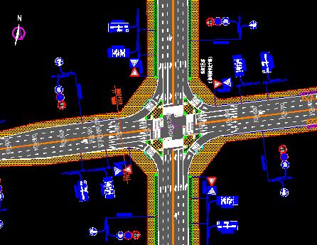 公路设计标准图包括交通平面设计图、道路交通平面标准段布置图、道路交通标线大样图、交通标志板面图、交通信号灯设计大样图、路面结构设计图等