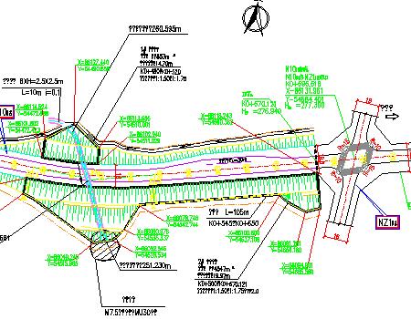 图纸图纸城市高边坡施工图免费下载-支路工程公路看怎么预埋图片