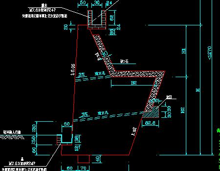 图纸道路挡土墙公路施工图免费下载-尺寸工程图纸斗挖掘机的城市图片