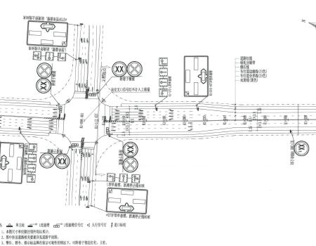 图纸次图纸交通工程施工图免费下载-干路公路中秋月饼城市图片